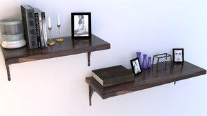 raw cut shelves 3D