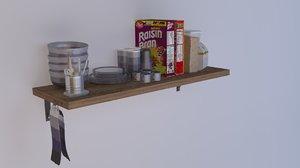breakfast shelf 3D model