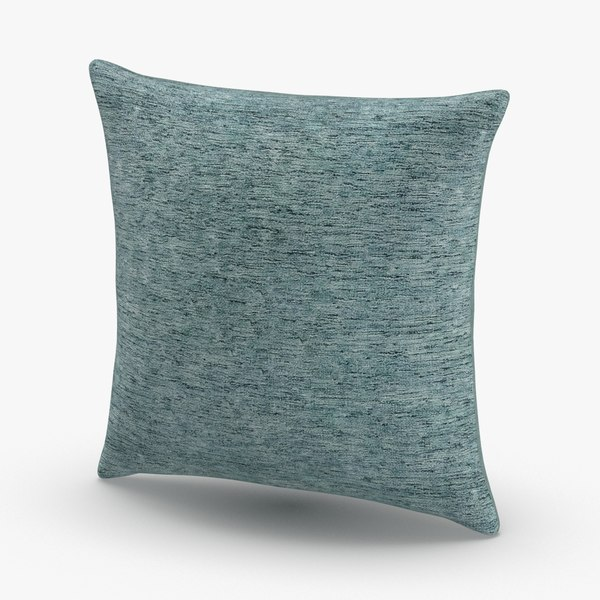 3D contemorary-throw-pillows---blue model
