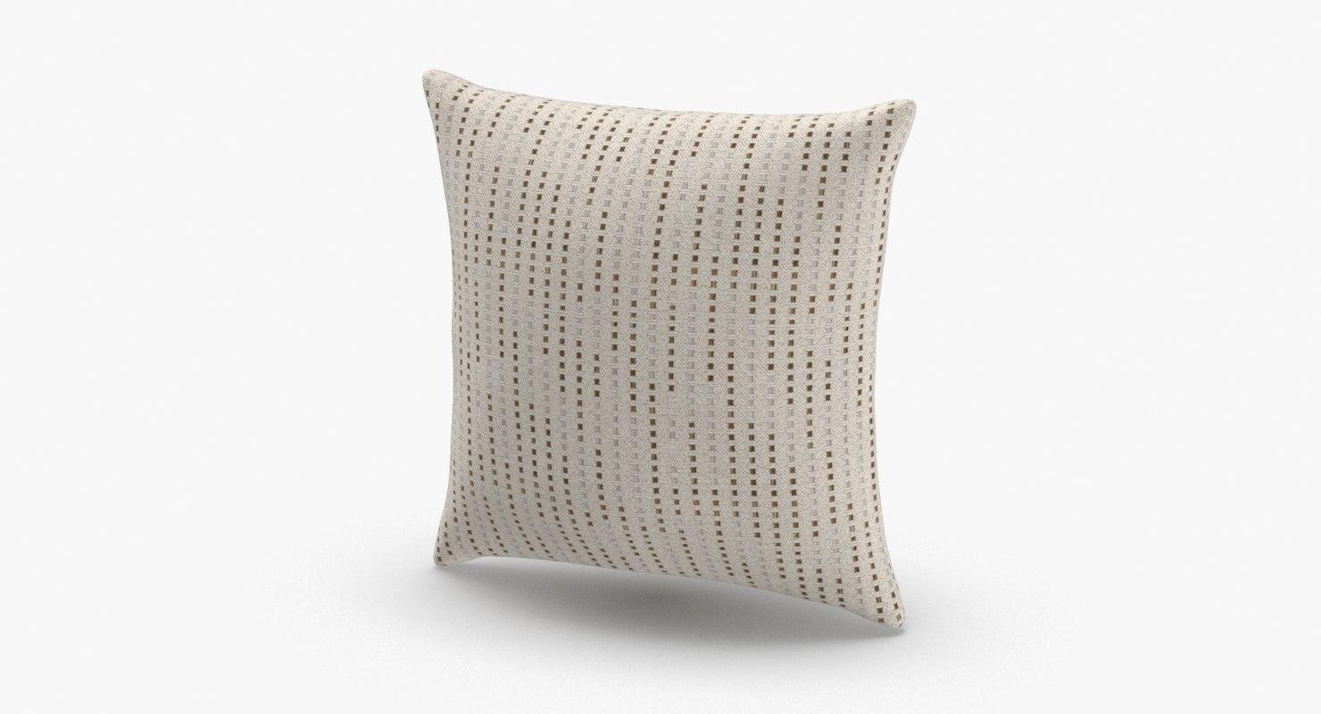 3D model contemorary-throw-pillows---tan