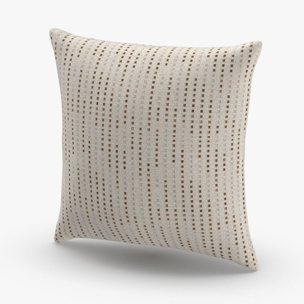 3D model contemorary-throw-pillows---tan