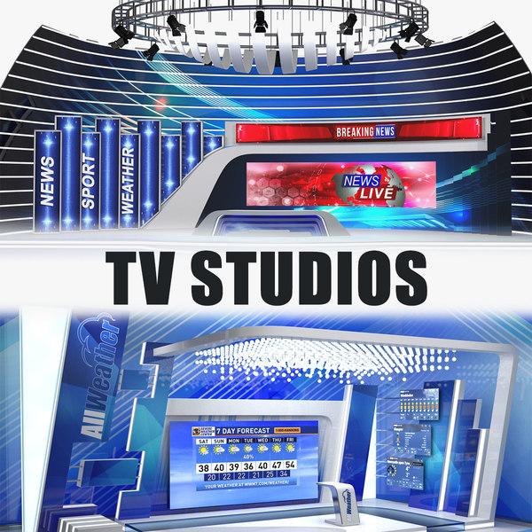 tv studios 3D model