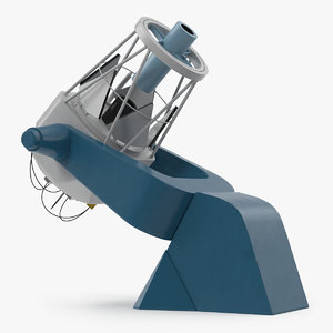 3D telescope observatory model