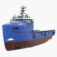 platform supply vessel cargo 3D