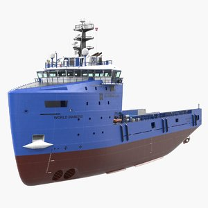 platform supply vessel cargo 3D