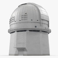 observatory building rigged model