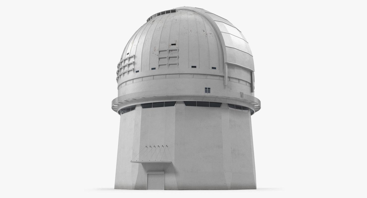 observatory building rigged model