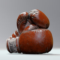 boxing gloves everlast 3D model