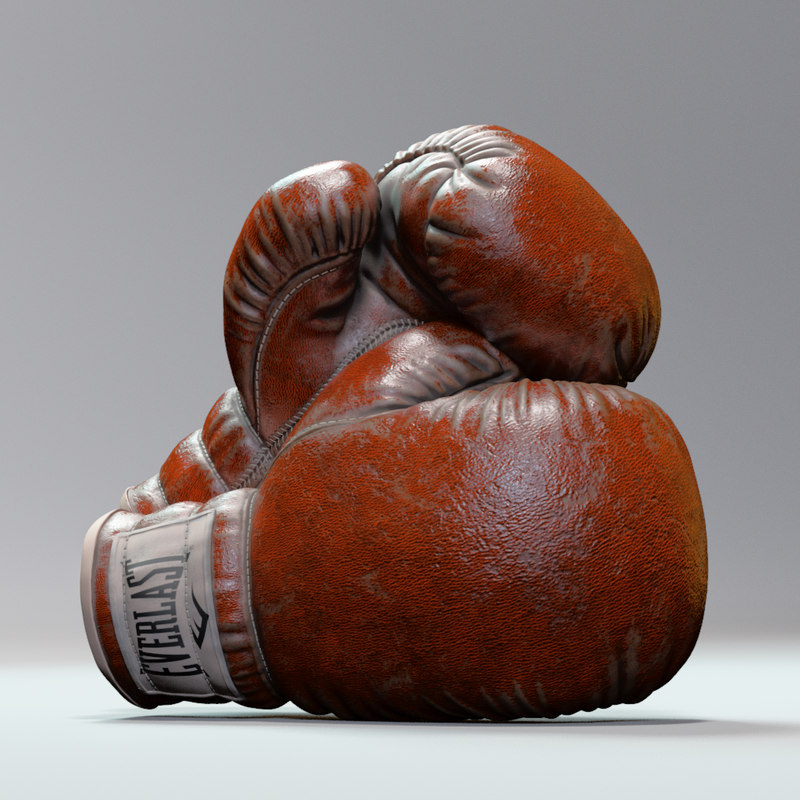 boxing gloves everlast 3D model