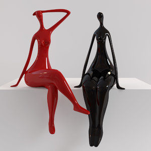 lady decoration modern 3D model