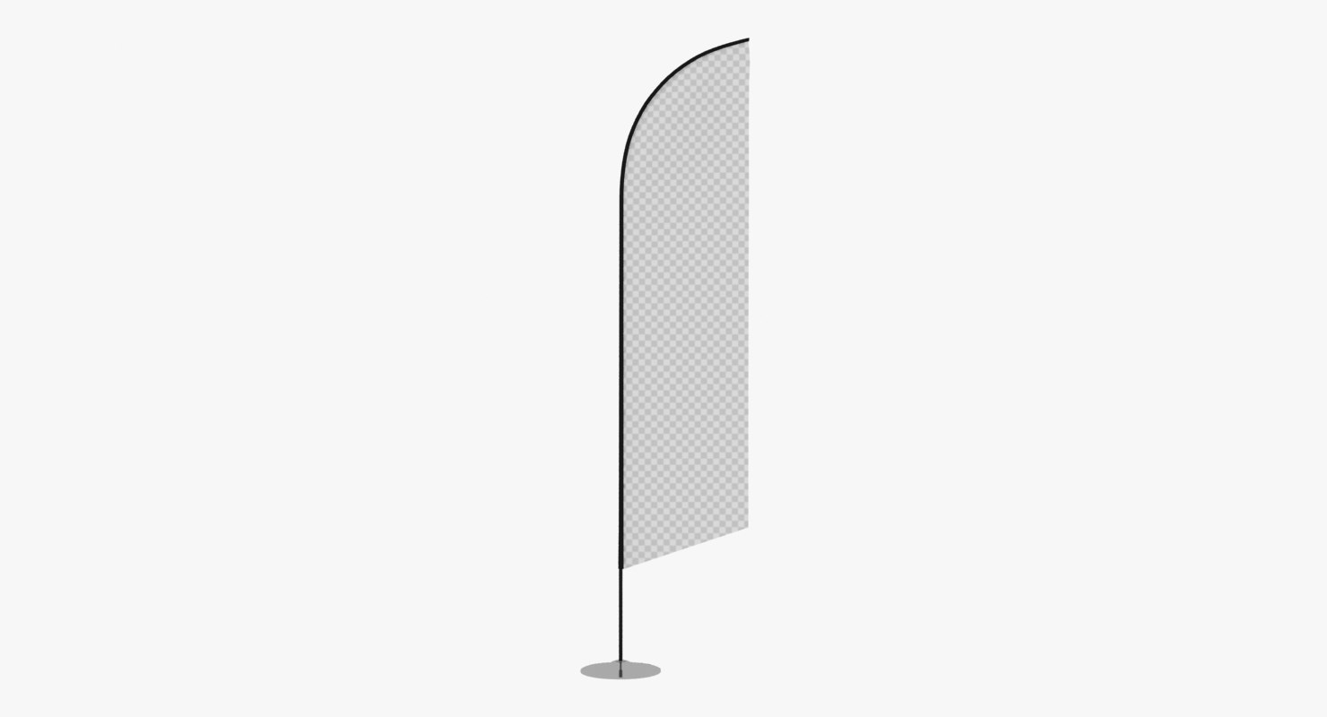 3D promo flag feather