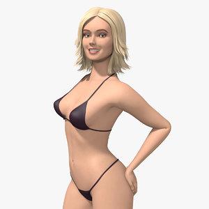 human bikini tall 3D