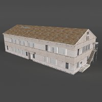 3D industrial building warehouse factory model