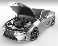 3D model lexus lc 500