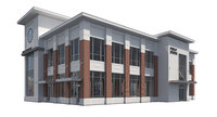 commercial office building 3D model