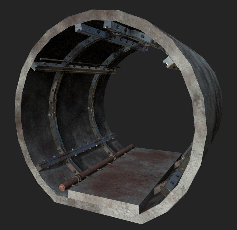 underground tunnel segment 3D