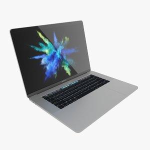 macbook pro touch bar 3D model
