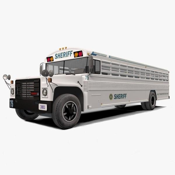 3D prison bus model