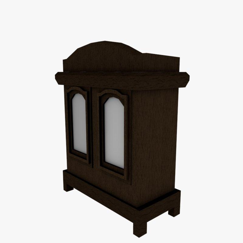 3D model medieval wardrobe