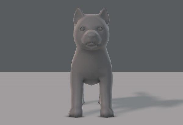 base dog 3D model