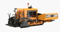 3D asphalt paver road roller model