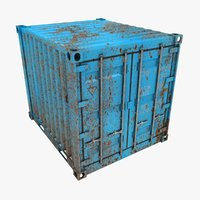 rusty container 10ft azure 3D model