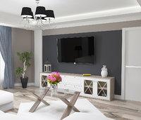 3D model cozy living room