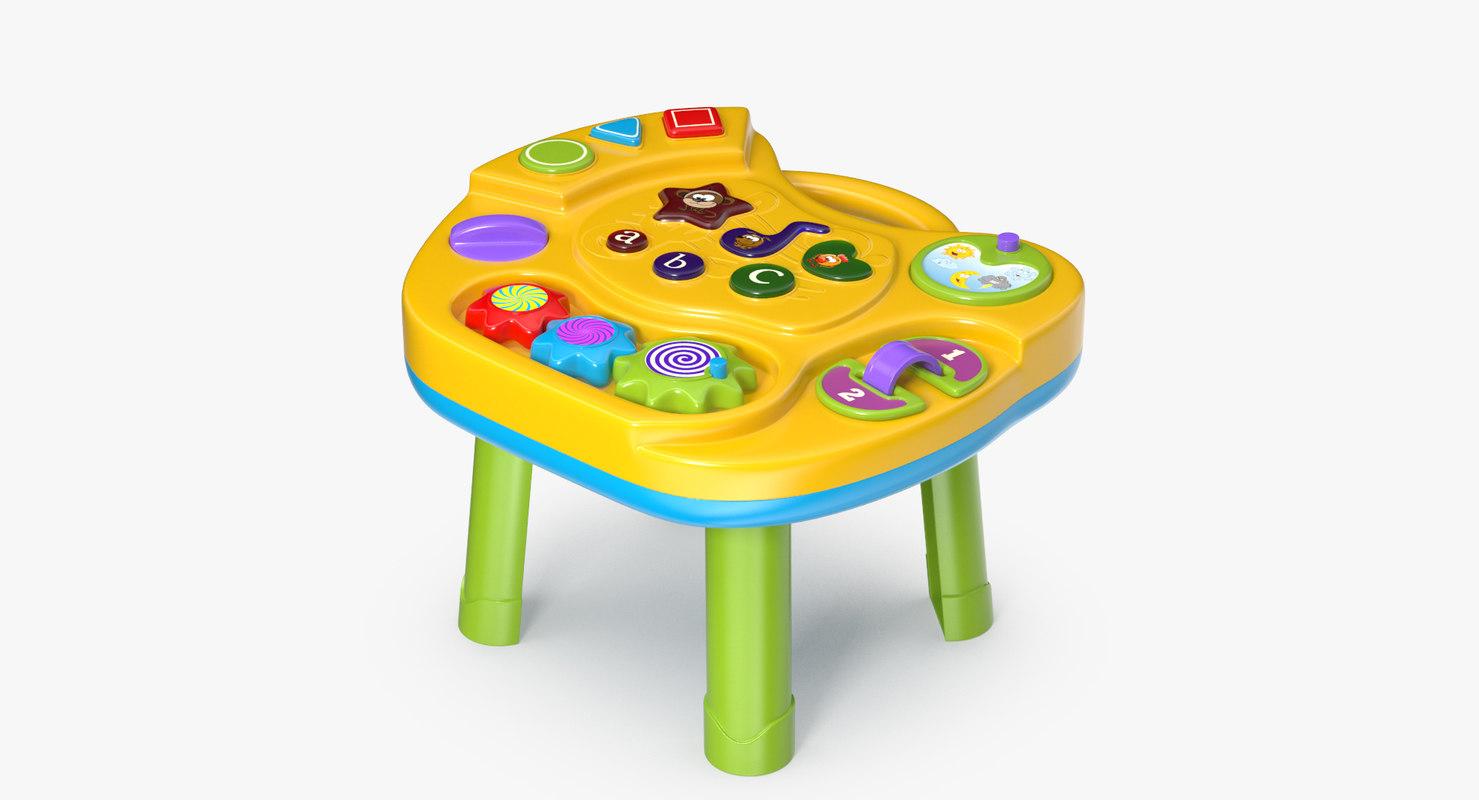 interactive children s table 3D model