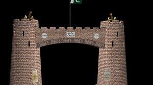 3D khyber pass gate