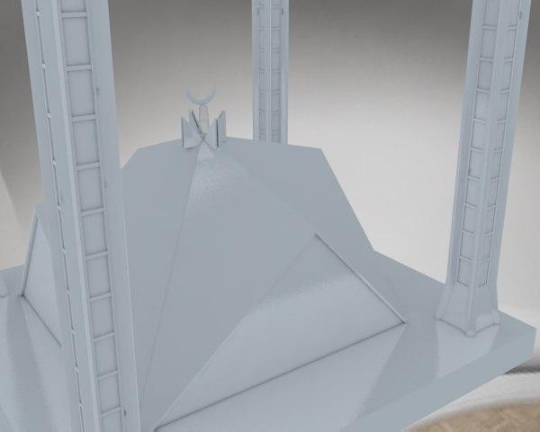 3D mosque faisal model