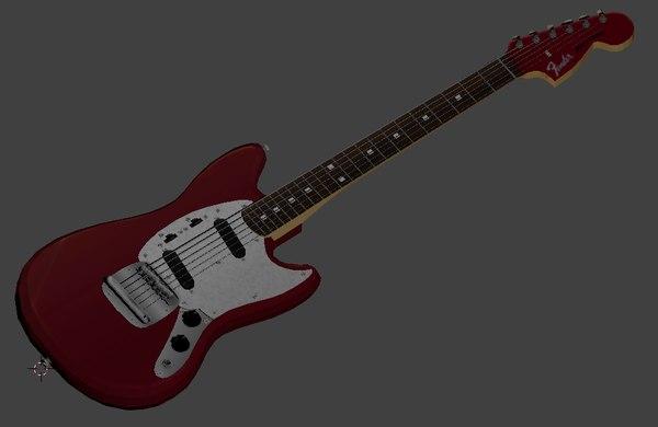 fender japan 69 reissue 3D model