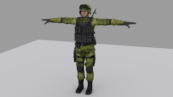 rigged soldier 3D