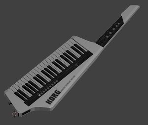 korg keytar rk-100 white 3D model