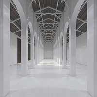 hallway room 3D model