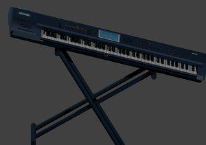 korg triton extreme 76-key 3D
