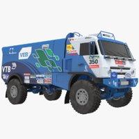 3D kamaz racing truck