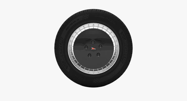 3D knight rider wheel model