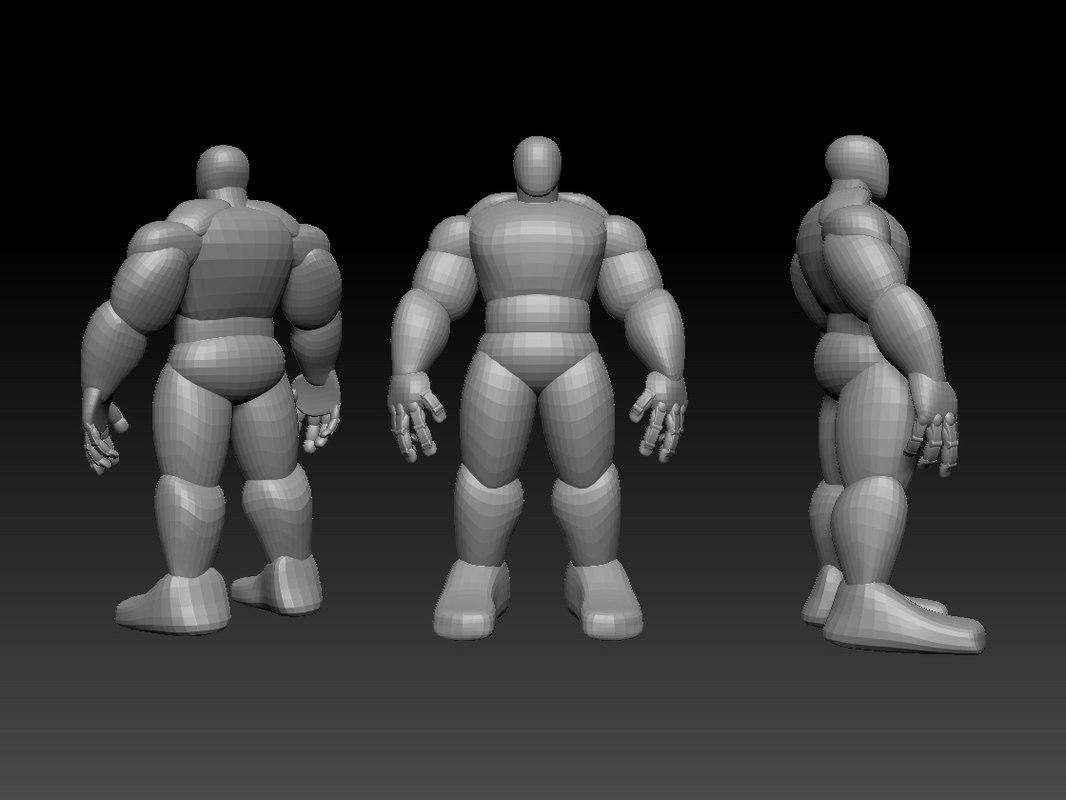 mesh based hulk model