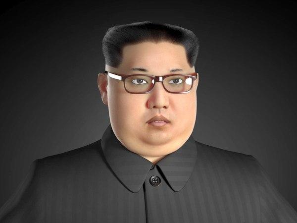 kim dzong realistic 3D model