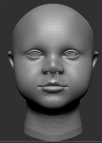 baby 3D model
