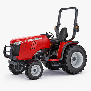 wheel compact utility tractor 3D