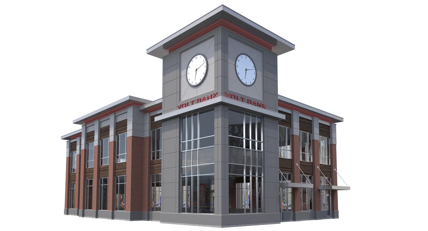 3D commercial office building