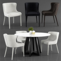 quilted dining chair saxon 3D