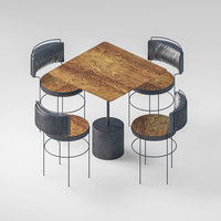 table set almeco st 3D model