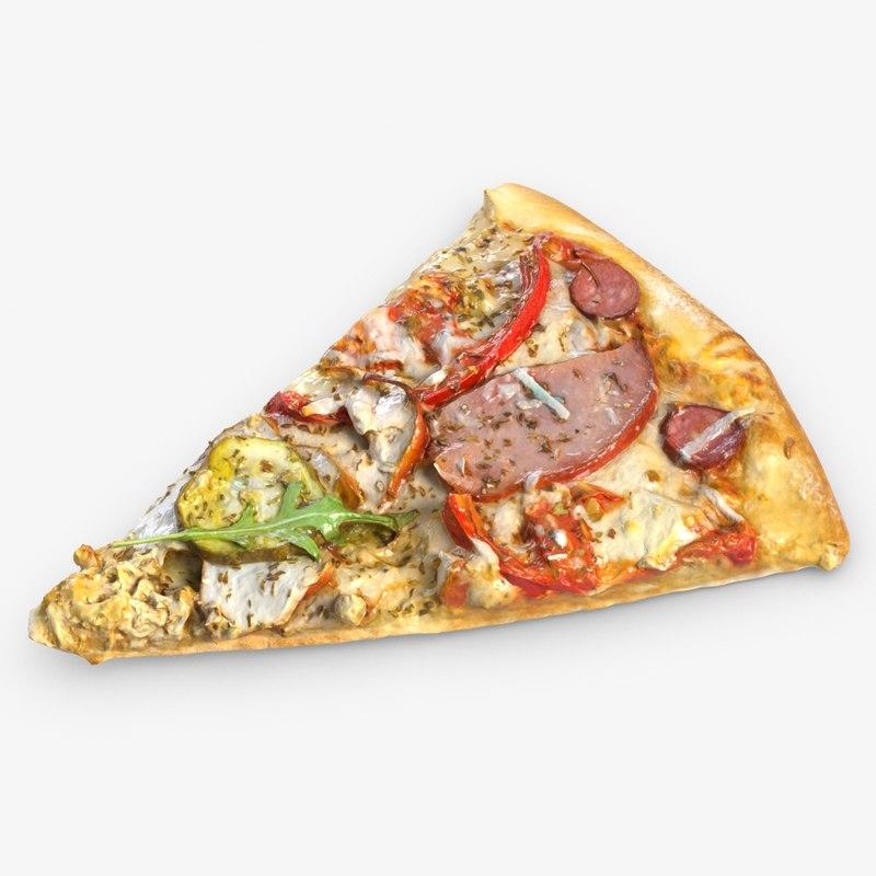 pizza piece model