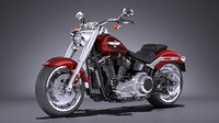 harley-davidson fat boy 3D model