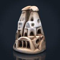 3D house figurine