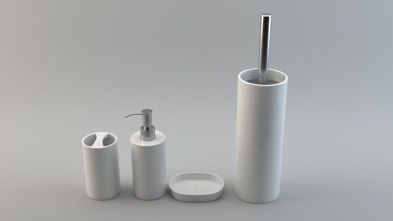 3D model pack basic bathroom