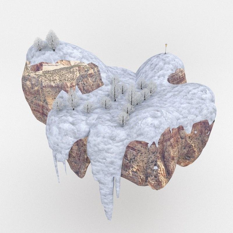 3D snow scene