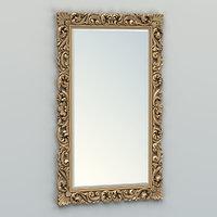 carved rectangle mirror frame 3D model